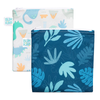 Bumkins Large Reusable Snack Bags (2 pack): Dinosaurs & Blue Tropic