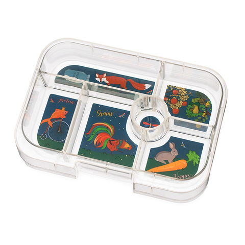 Yumbox Extra Tray: 6 Compartments, Enchanted Forest theme