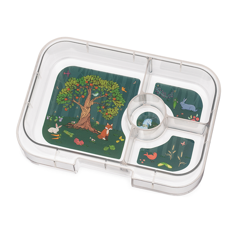 Yumbox Extra Tray: 4 Compartments, Enchanted Forest theme