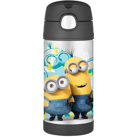 Thermos 12oz FUNtainer Straw Bottle: Minions