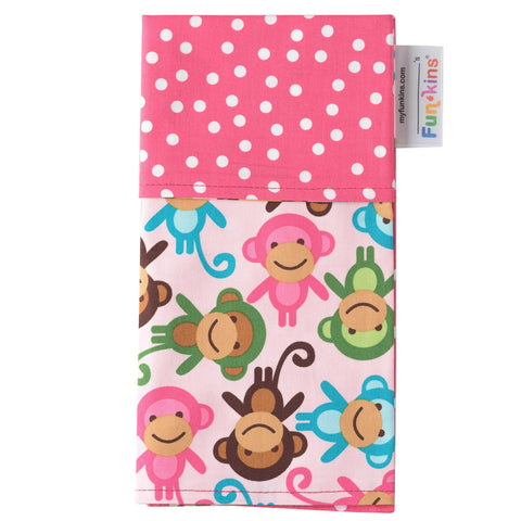 Funkins Cloth Napkin: Monkey See, Monkey Do Too!