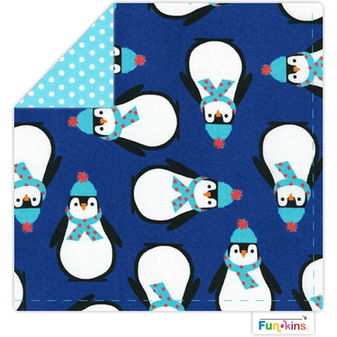 Funkins Cloth Napkin: Warm, Waddly, Winter Penguins