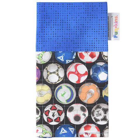 Funkins Cloth Napkin: Soccer, Blue