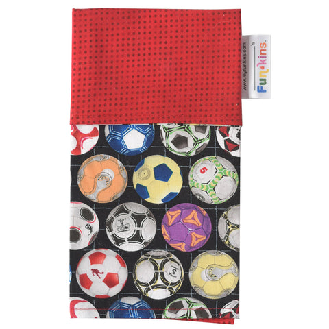 Funkins Cloth Napkin: Soccer, Red
