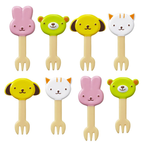 Animal Friends Food Forks for Bento Boxes_CuteKidStuff.com