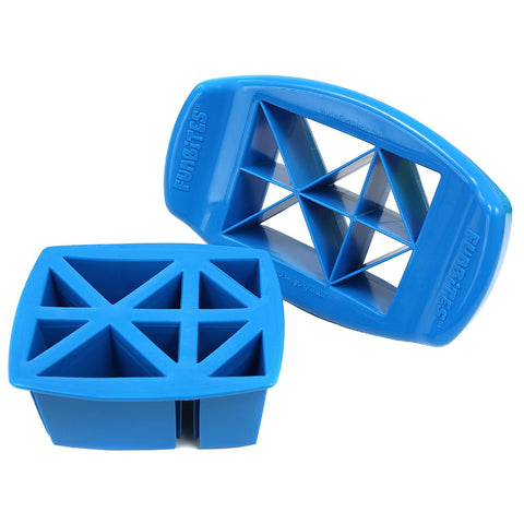 FunBites TRIANGLES Food Cutter - Blue