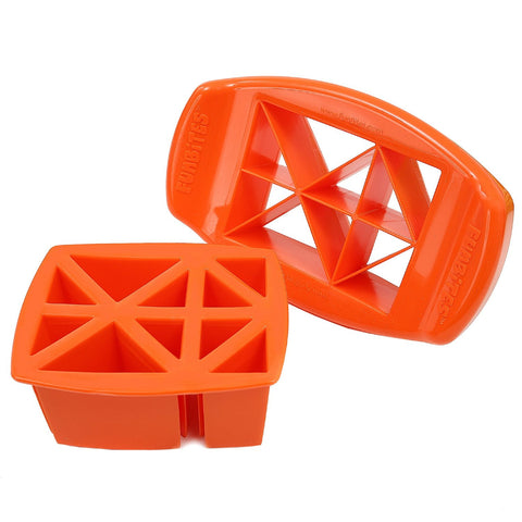 FunBites TRIANGLES Food Cutter - Orange