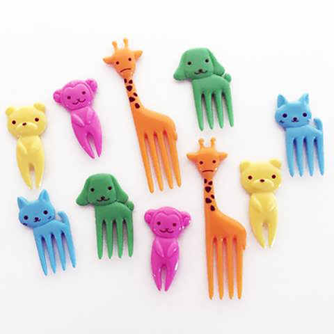 10 Animal Forks - With Giraffes