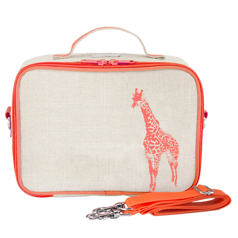 SoYoung Lunch Box: Neon Orange Giraffe