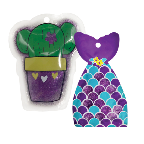 So-Mine Glitter Ice Packs: Cactus & Mermaid