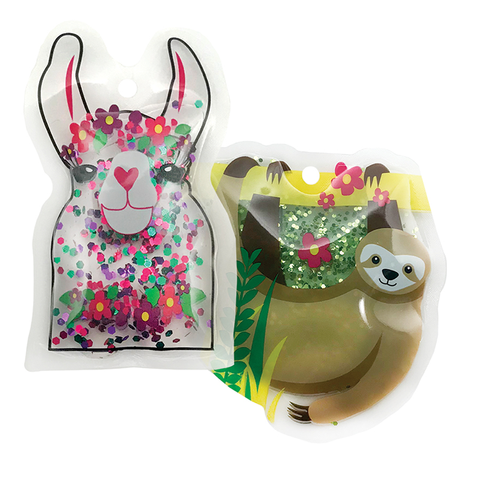 So-Mine Glitter Ice Packs: Llama & Sloth