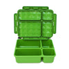 Go Green 4-Compartment Leakproof Break Box: GREEN