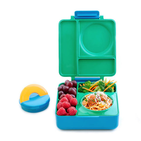 OmieBox Hot & Cold Insulated Bento Lunch Box - Green Meadow
