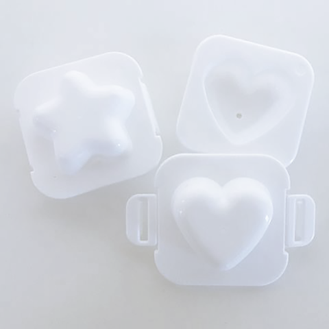 DAISO Star & Heart Boiled Egg Moulds (2-Pack)