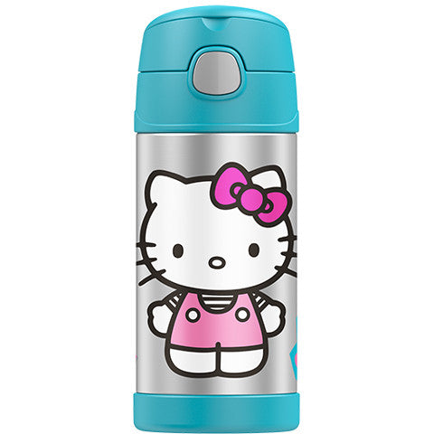 Thermos 12oz FUNtainer Straw Bottle: Hello Kitty Blue