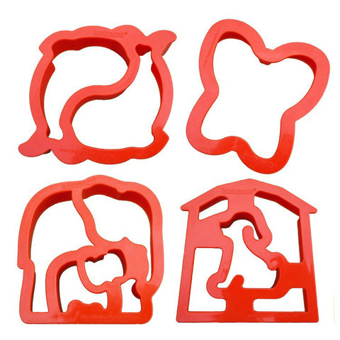 Lunch Punch Set of 4 Sandwich Cutters: CRITTER CUTTERS