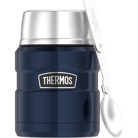 Thermos SS King 16 Oz Food Jar & Spoon - Midnight Blue