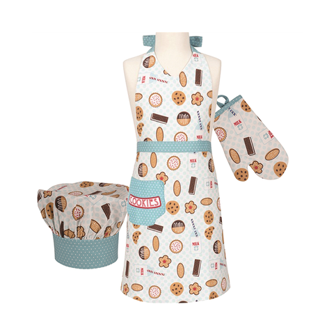 Handstand Kitchen Deluxe Baking Outfit for Children (Boxed Set): Milk & Cookies