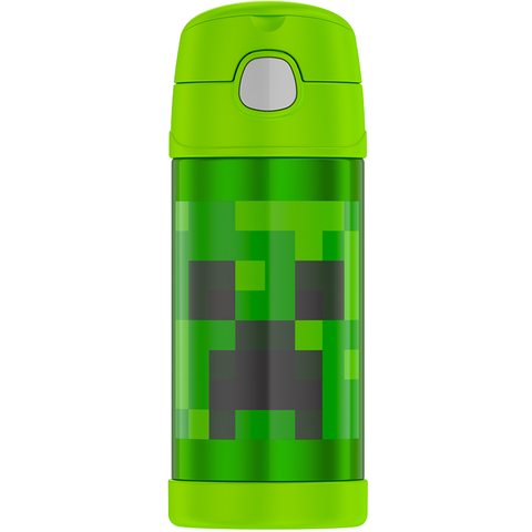 Thermos 12oz FUNtainer Straw Bottle: Minecraft