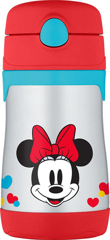 Thermos 10oz Stainless Steel Straw Bottle: Minnie's Bow-Tique