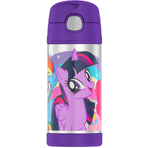 Thermos 12oz FUNtainer Straw Bottle: My Little Pony Purple