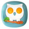 Silicone Fried Egg Mould: OWL