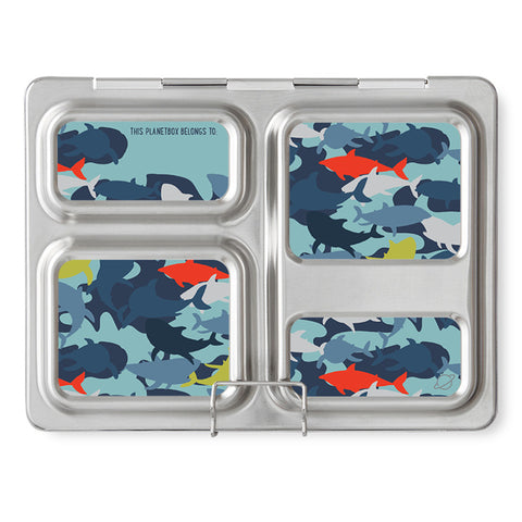 Magnet Set for PlanetBox Launch: Camo Sharks