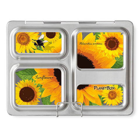Magnet Set for PlanetBox Launch: Sunflowers