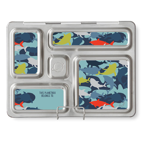 Magnet Set for PlanetBox Rover: Camo Sharks