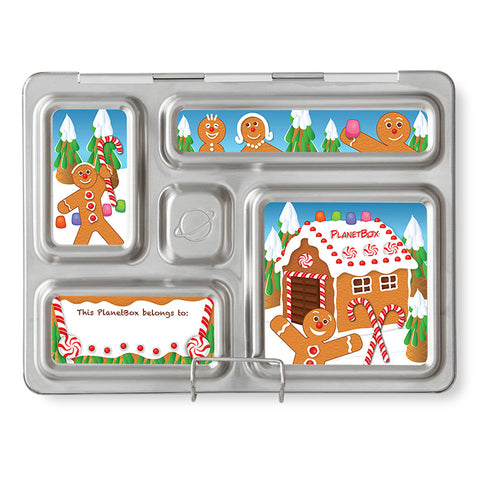 Magnet Set for PlanetBox Rover: Gingerbread