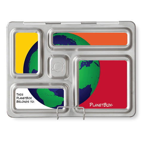 Magnet Set for PlanetBox Rover: Green Globe