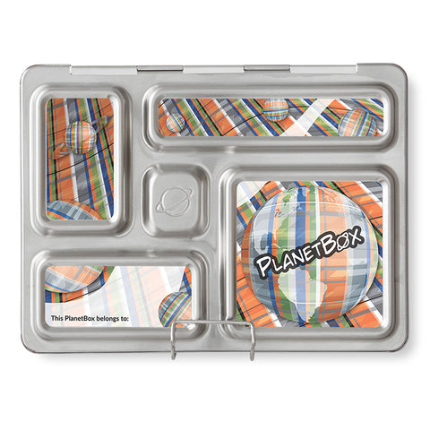 Magnet Set for PlanetBox Rover: Planet Plaid