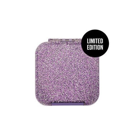 Little Lunch Box Co. Bento Two (Snack Size): Glitter Purple - Limited Edition