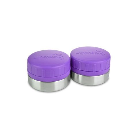 Lunchbots Rounds 4oz (2-Pack): Purple