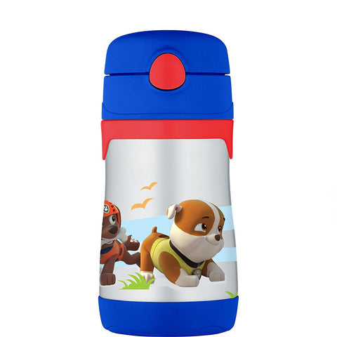 Thermos 10oz  Stainless Steel Straw Bottle: Paw Patrol