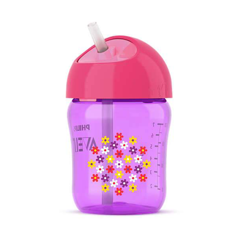Philips Avent Straw Cup 9oz Single: Floral