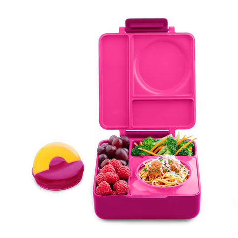 OmieBox Hot & Cold Insulated Bento Lunch Box - Pink Berry