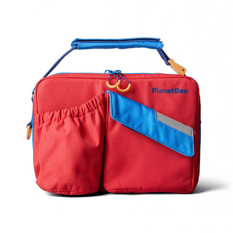 PlanetBox Insulated Carry Bag for Rover or Launch: Tomato Twist