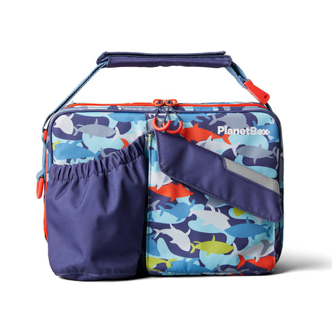 PlanetBox Insulated Carry Bag for Rover or Launch: Camo Sharks