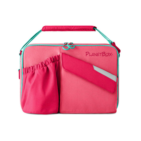PlanetBox Insulated Carry Bag for Rover or Launch: Guava