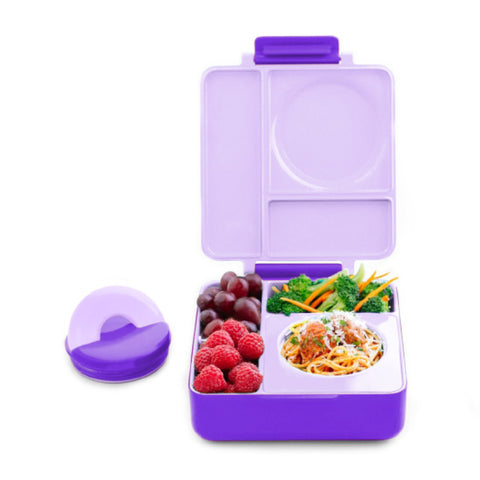 OmieBox Hot & Cold Insulated Bento Lunch Box - Purple Plum
