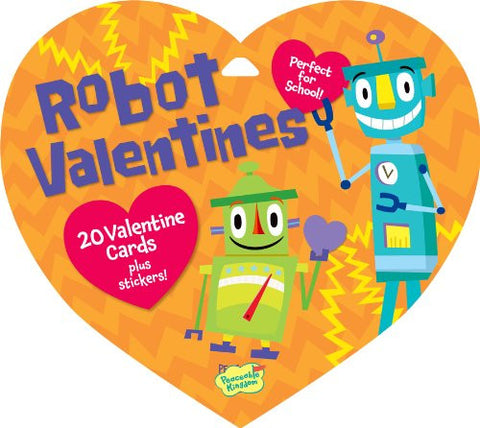 Peaceable Kingdom ROBOT Valentine Heart Pack (20 Cards & 48 Stickers) | CuteKidStuff.com