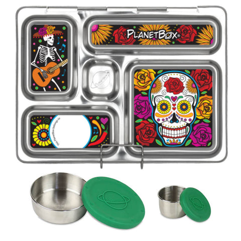 PlanetBox Rover with Two Sililid Dippers & Free Dia de los Muertos Magnets