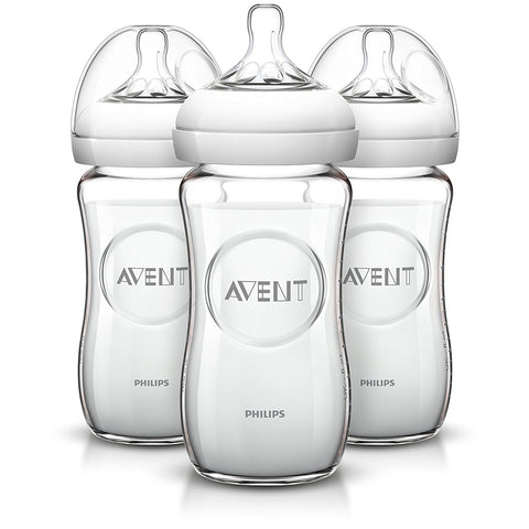 Philips Avent Natural (3-Pack): 8oz Glass