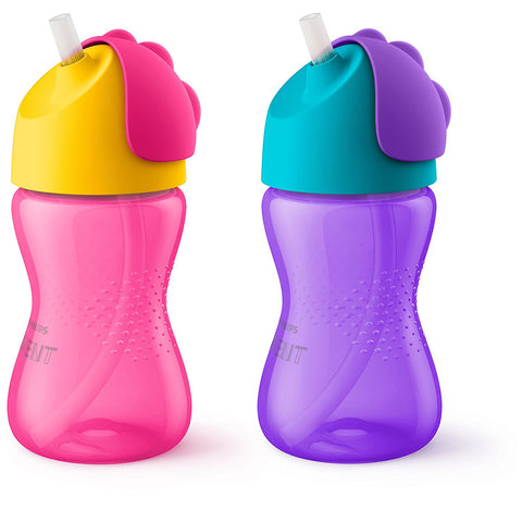 Philips Avent My Bendy Straw Cup: 7oz 2-Pack (Girl)
