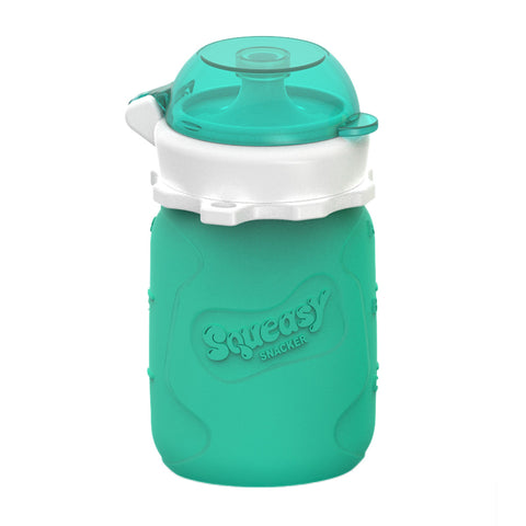 Squeasy Gear 3.5oz Snacker - Aqua Blue