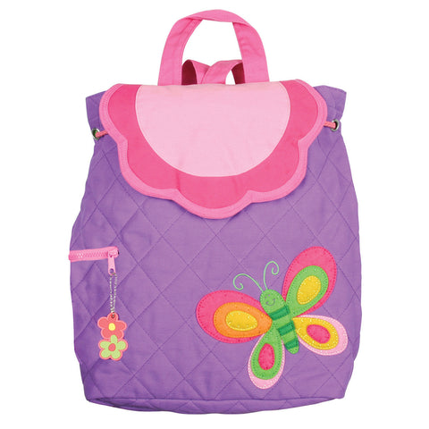 Stephen Joseph Quilted BUTTERFLY Backpack: Front | CuteKidStuff.com