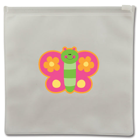 Stephen Joseph Reusable BUTTERFLY Snack Bags (Set of 2)