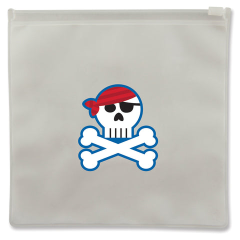 Stephen Joseph Reusable PIRATE Snack Bags (Set of 2)
