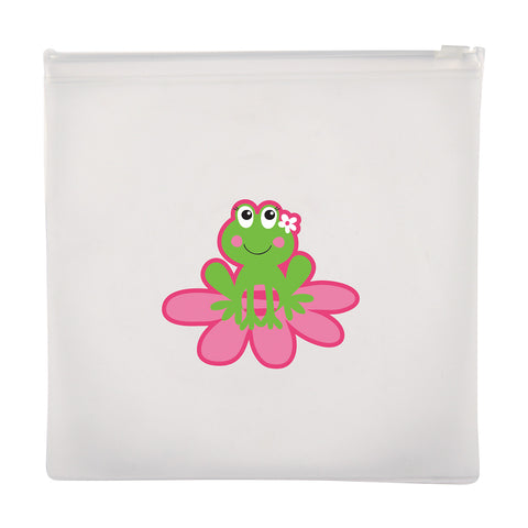 Stephen Joseph Reusable GIRL FROG Snack Bags (Set of 2)